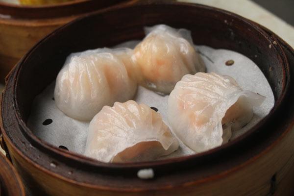 Raviolis aux crevettes dim sum à Hong Kong