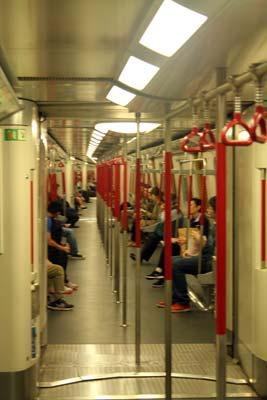 Propreté du métro à Hong Kong
