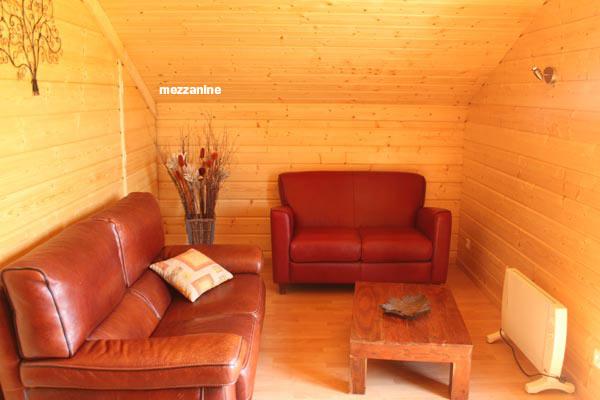 Mezzanine-salon du chalet de Valérie