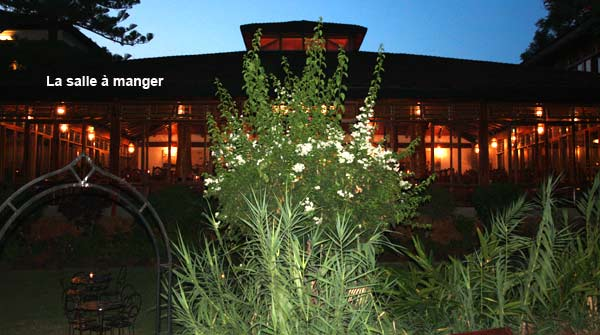 Salle à manger du Lac Manyara Hotel
