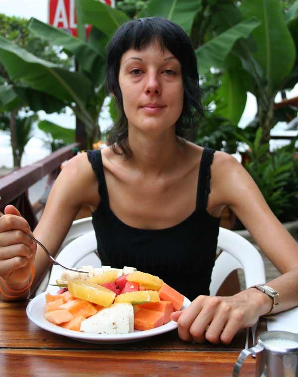 Nathalie au restaurant Le Marlin à Manuel Antonio