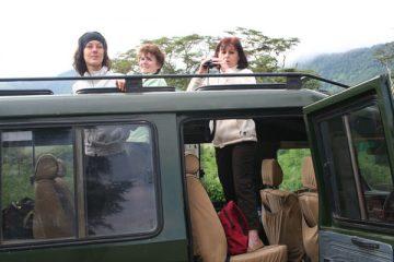 Véhicule, agence de voyages safari