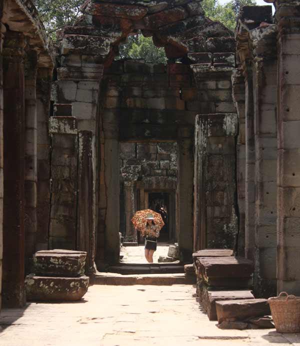 Touriste à Angkor