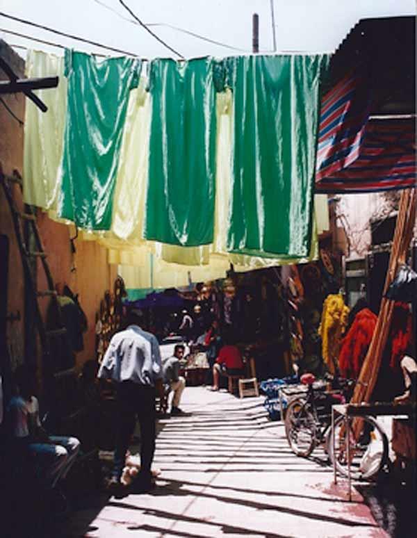 Souks des teinturiers à Marrakech