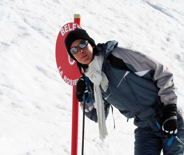 piste ski la rosiere alpes