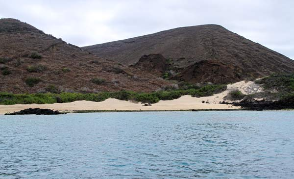 Plage de snorkeling sur santiago aux Galapagos
