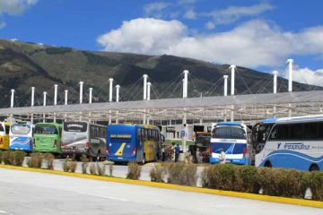 Quito, gare des bus, vers Otavalo