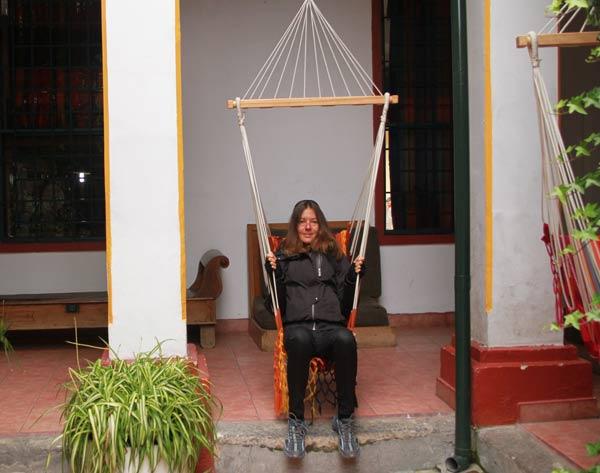 Hôtel Riviera Sucre à Otavalo, dans le hamac