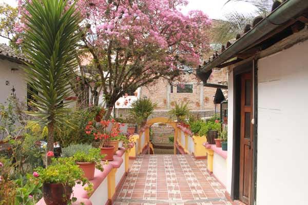 Hôtel Riviera Sucre à Otavalo, jardin