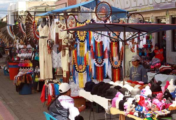 Marché d'Otavalo en Equateur