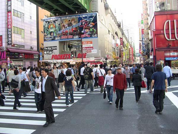 Voyage au japon, rues de Tokyo