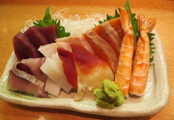 sashimis à Tokyo