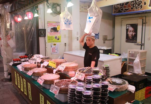 marché d'Omicho Kanazawa, marchand