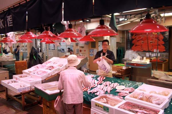 stand,marché d'Omicho, Kanazawa