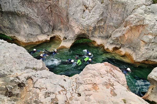 voyage espagne canyoning