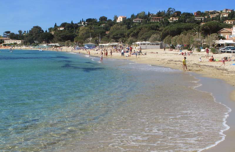 plage sable le lavandou