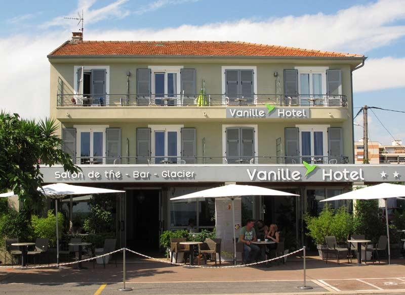 vanille hôtel côte d'azur