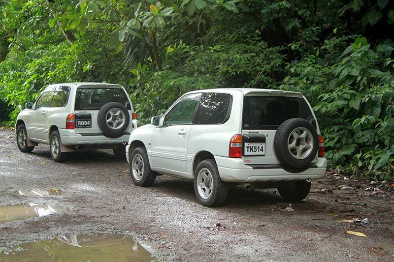 parking départ Boiling Lake Dominica