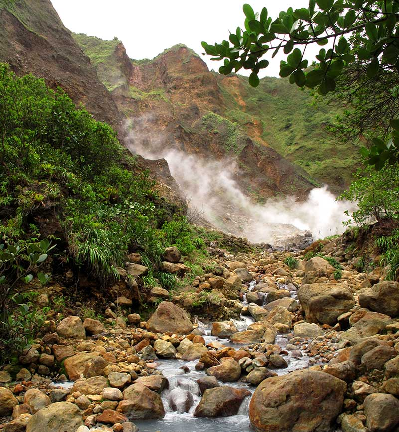 paysage vallee desolation boiling lake dominica