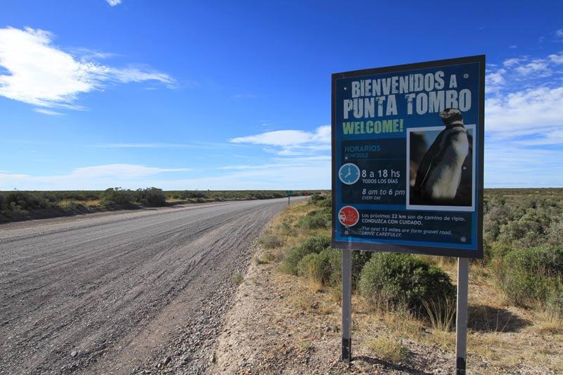 accès à Punta Tombo en voiture