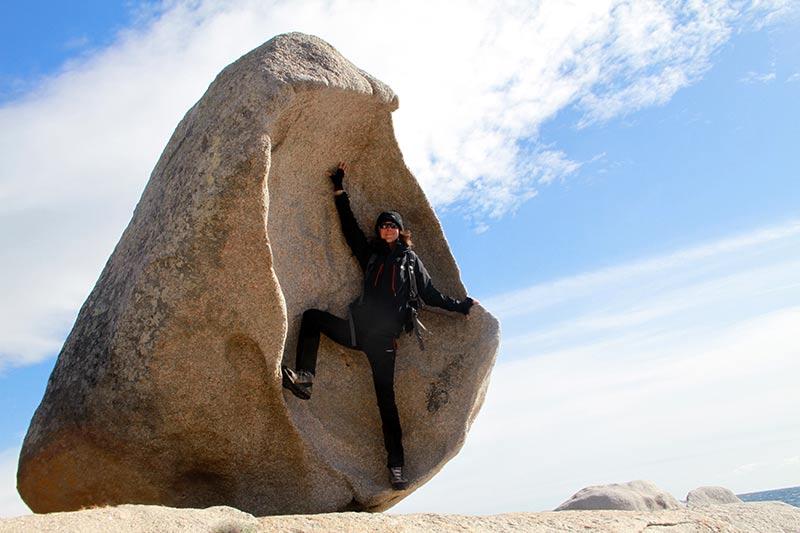 balade dans les rochers en Corse