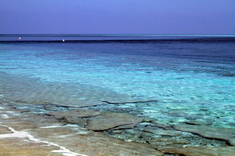 bleu lagon aux Maldives