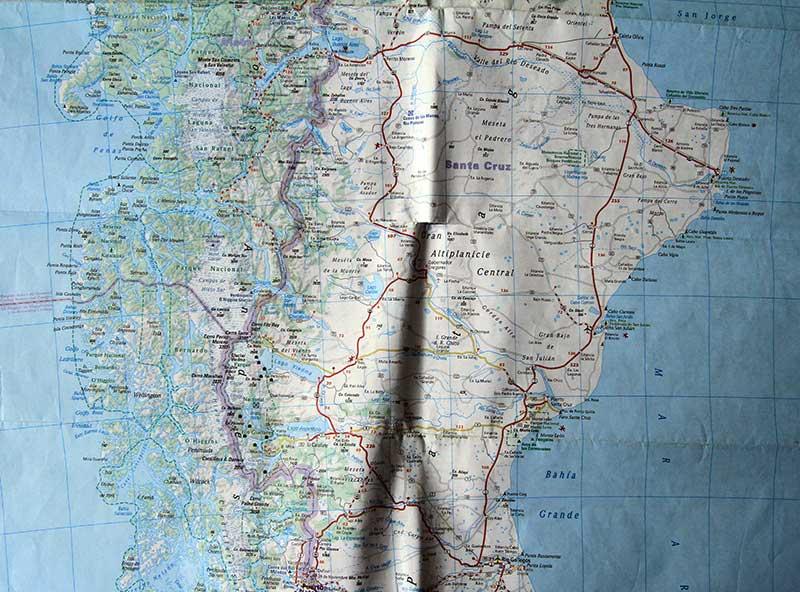 carte routière Argentine