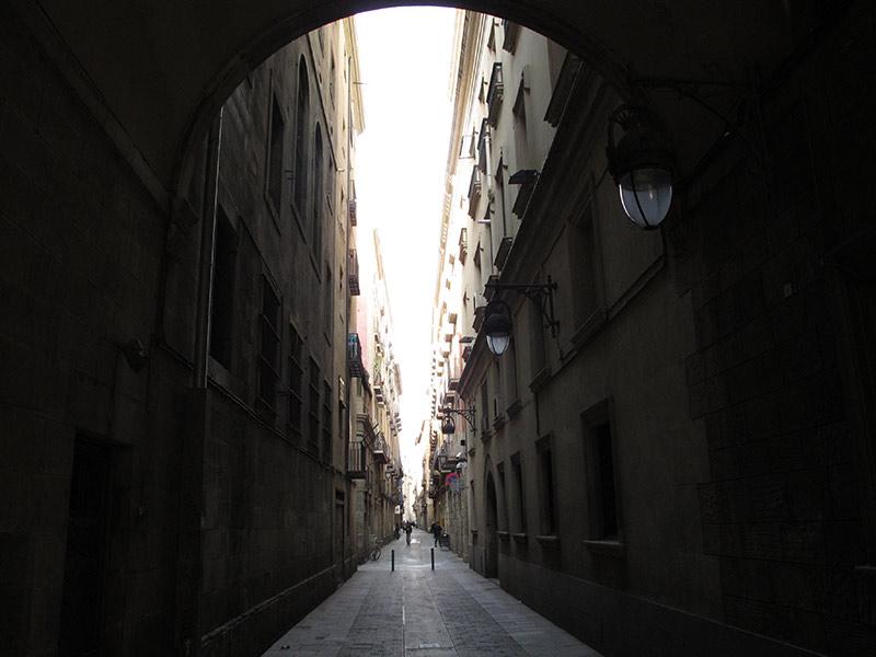 citytrip à Barcelone ruelle