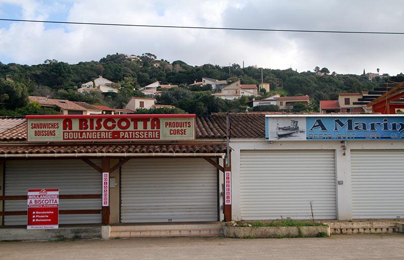 Corse en hiver commerces fermés