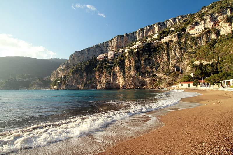 Côte d'Azur plage mala