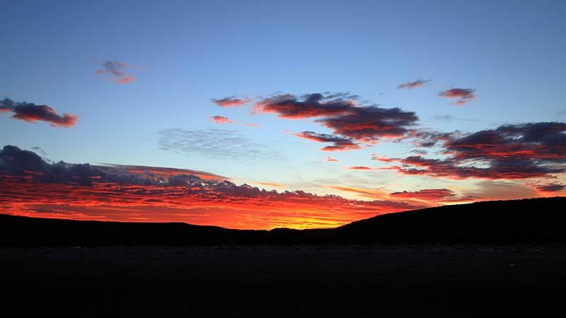 coucher de soleil patagon