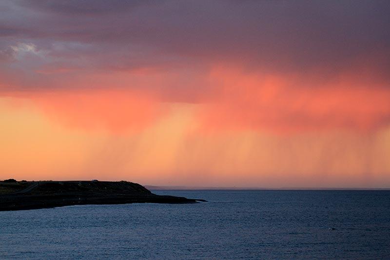 coucher de soleil en Patagonie Argentine