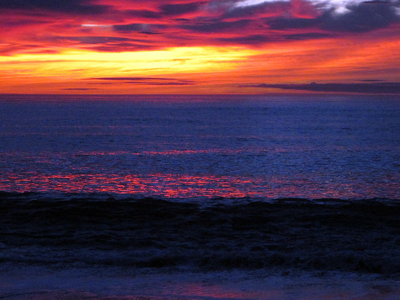 coucher de soleil Patagonie