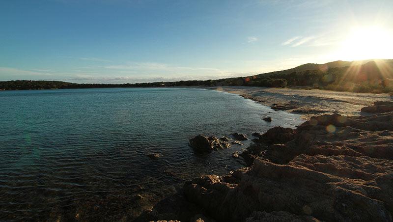coucher de soleil Rondinara Corse