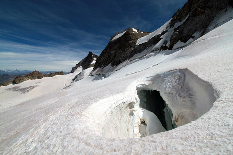 crevasse glacier de la Girose