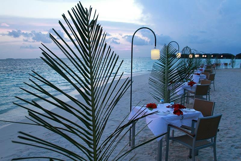 dîner en amoureux séjour au Vilamendhoo