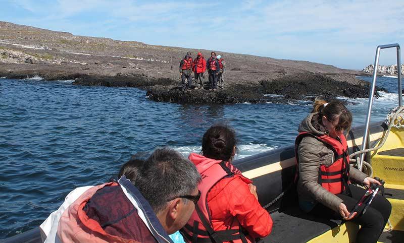 Débarquement Isla Pingüino