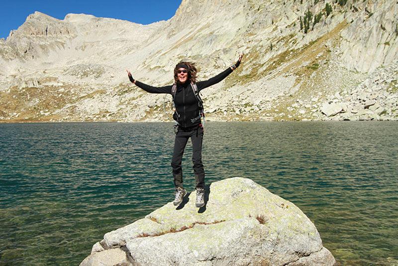 heureux à la montagne