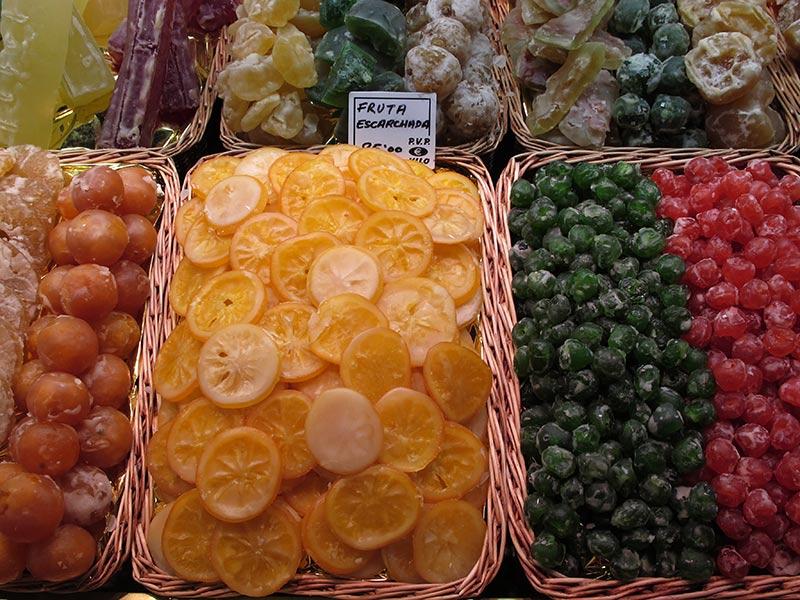La Boqueria Barcelone fruits confits