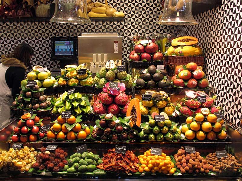La Boqueria Barcelone fruits exotiques