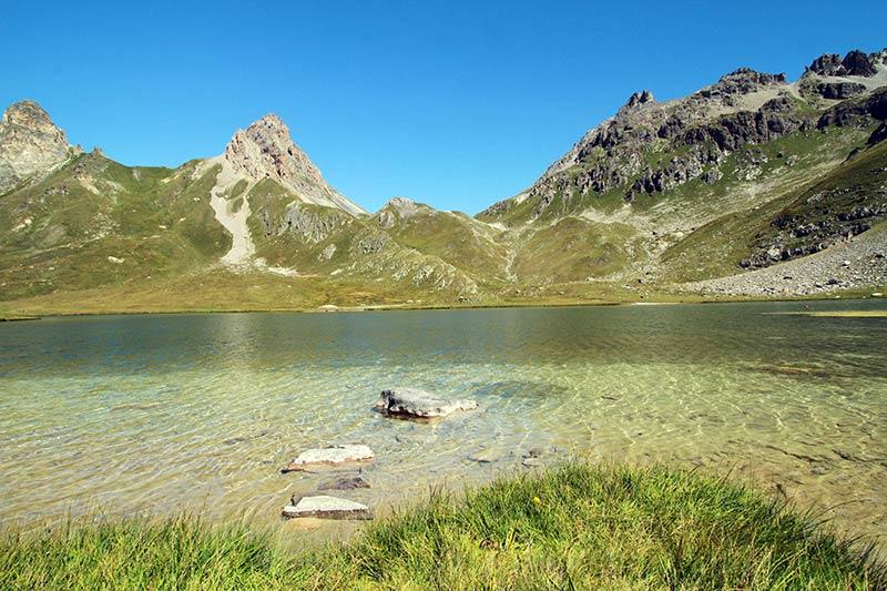 lac des Cerces été à Serre-Chevalier
