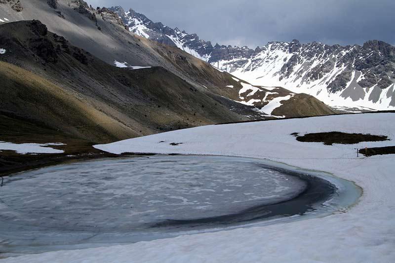 lac Souliers Queyras enneigé