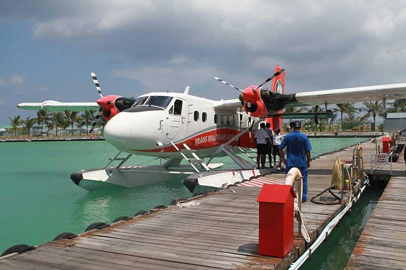 Maldives hydravion transfert