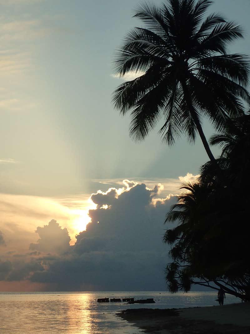 Maldives lever de soleil