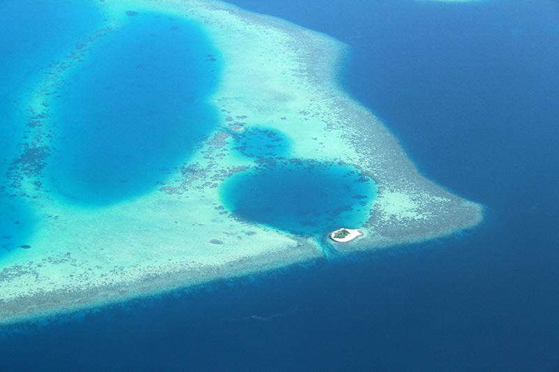 Maldives survol en hydravion