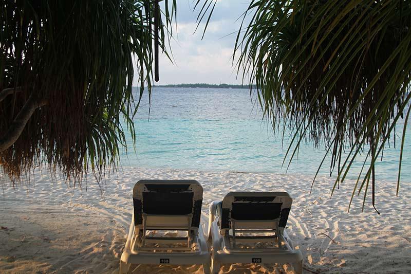Maldives vue de la villa
