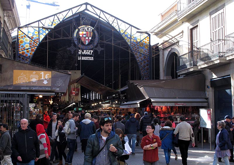 marché la bocqueria Barcelone