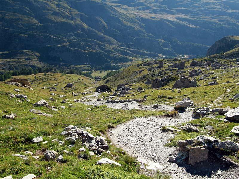 première montée lac Béraudes