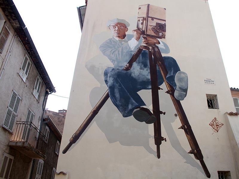 Murs peints cannes Buster Keaton