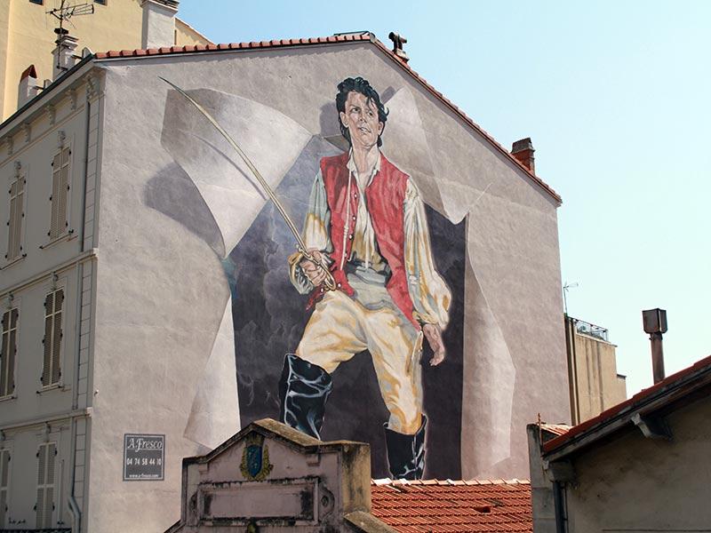 Murs peints à Cannes Gérard Philipe